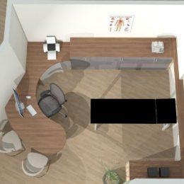 Cad-planung-sprechzimmer-von-oben