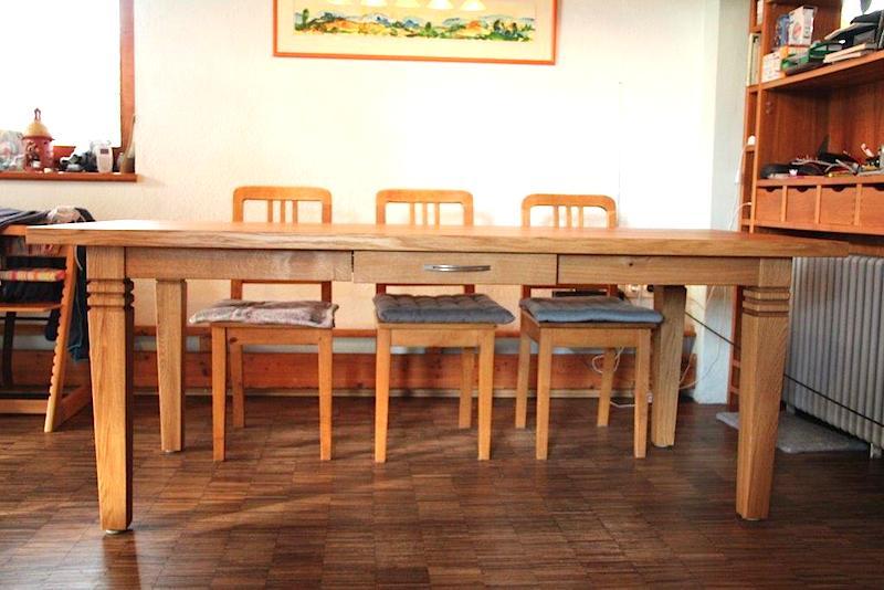 tisch mit schublade dein schreiner. Black Bedroom Furniture Sets. Home Design Ideas